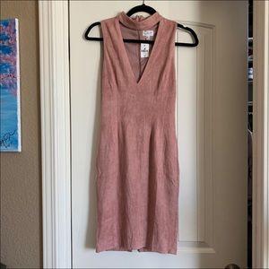 LF pink suede dress